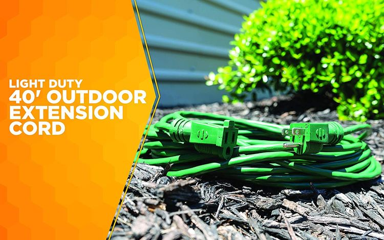 Coleman Cable 02356-05 40-Feet 16/3 Vinyl Landscape Outdoor Extension Cord, Green