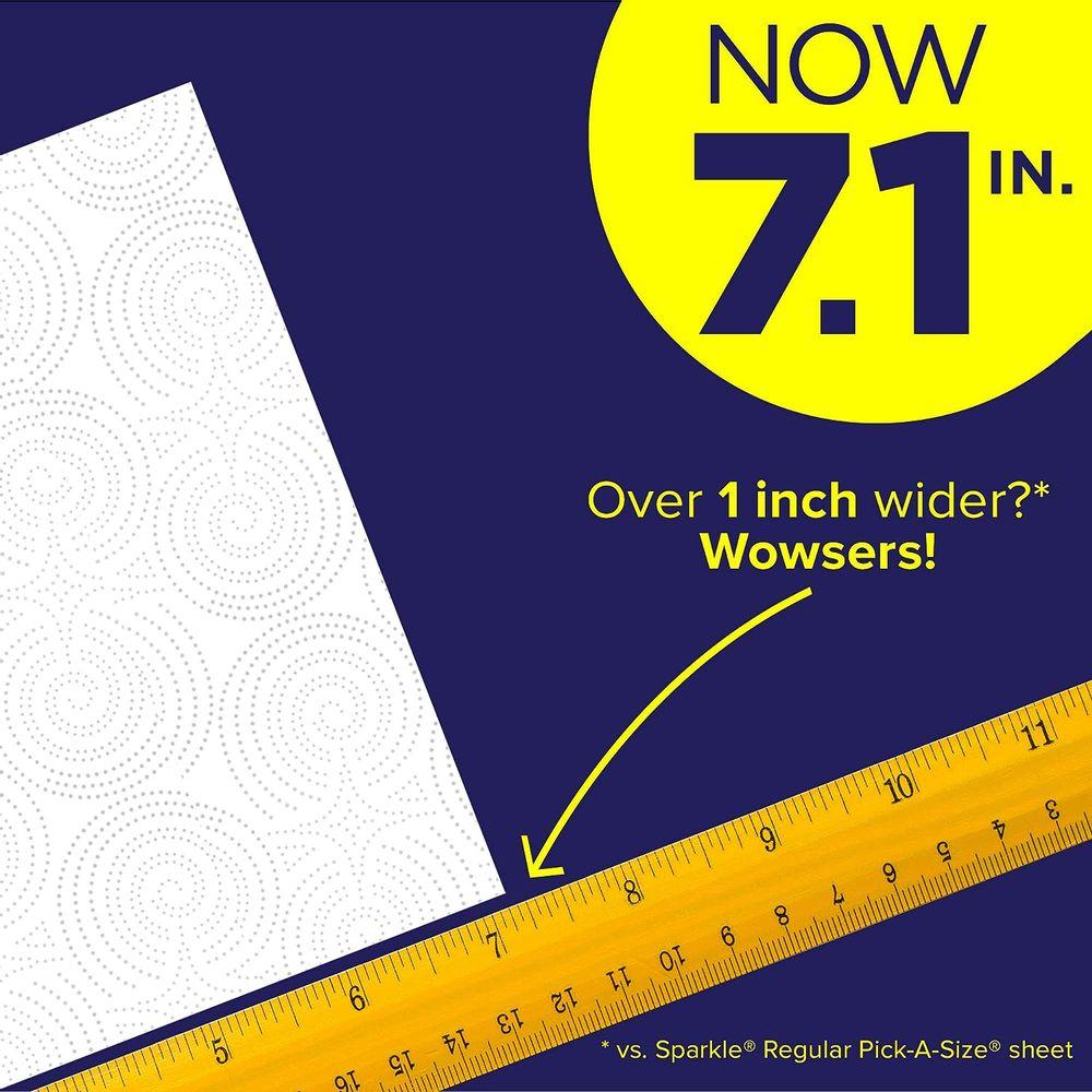 Sparkle Paper Towels, 24 = 47 Regular Rolls, Modern White, Pick-a-Size Plus