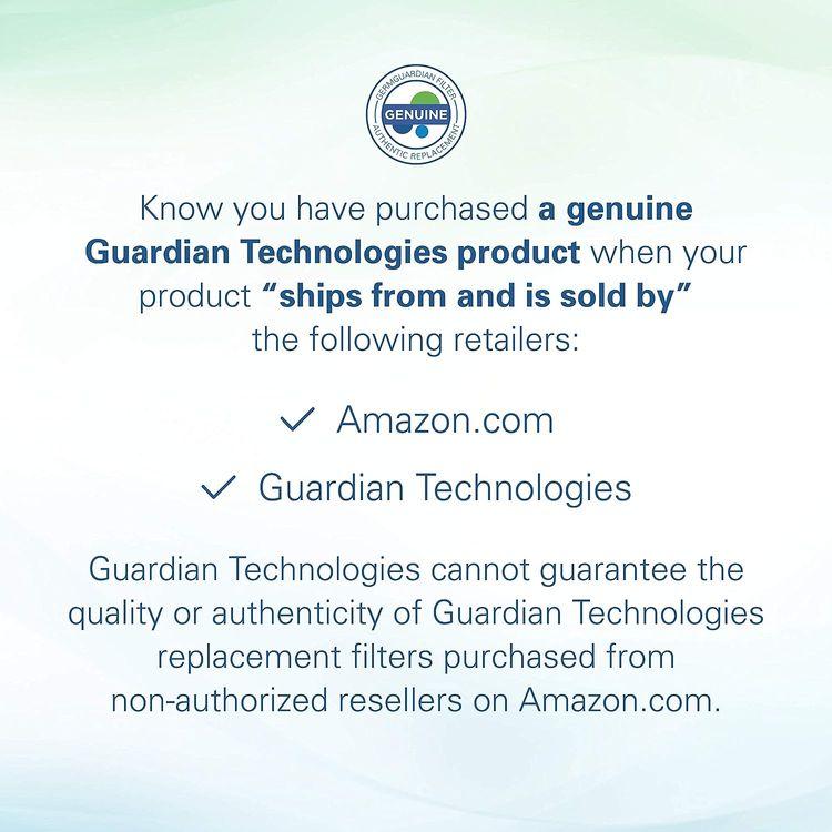 Germ Guardian FLT4825 True HEPA GENUINE Air Purifier Replacement Filter B for GermGuardian AC4300BPTCA, AC4900CA, AC4825, AC4825DLX, AC4850PT, CDAP4500BCA, CDAP4500WCA, and More