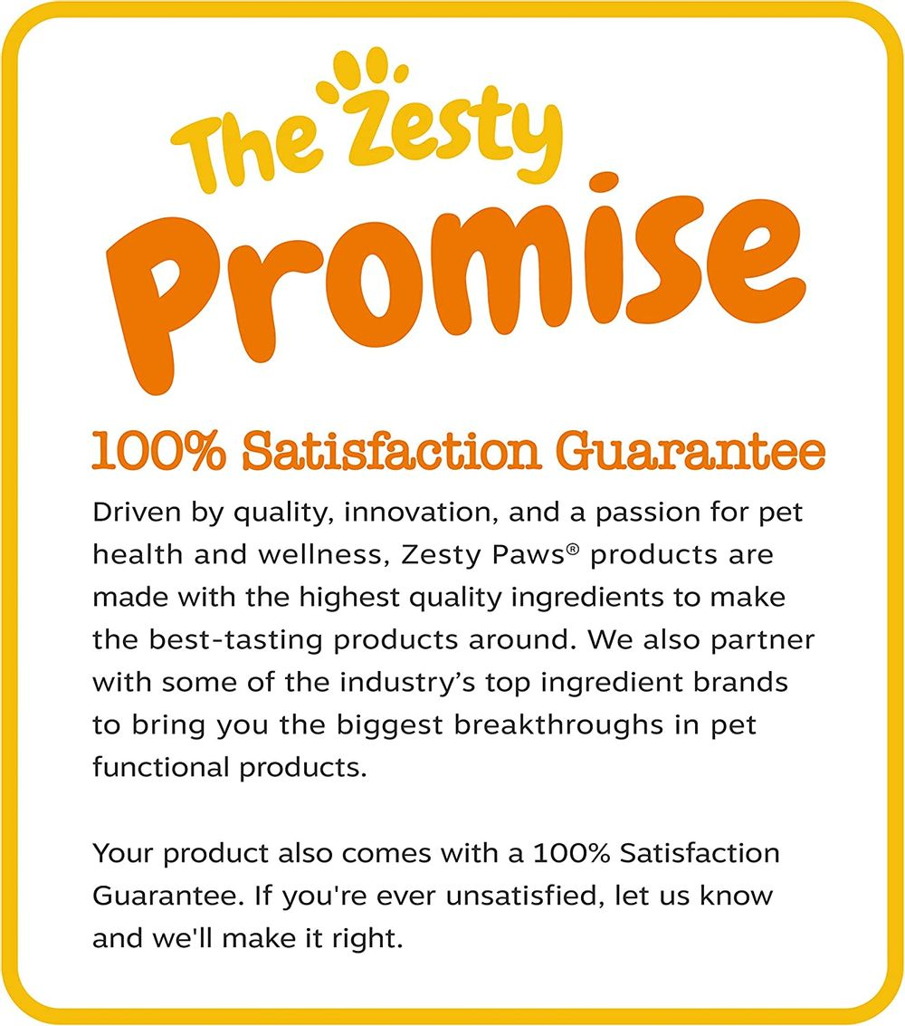 Zesty Paws No Grain Multifunctional Supplements for Dogs - Glucosamine Chondroitin for Joint Support with Probiotics for Gut & Immune Health –Fish Oil with Antioxidants for Skin & Heart Health
