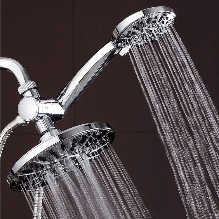 """AquaDance 7"""" Premium High Pressure 3-Way Rainfall Combo for The Best of Both Worlds-Enjoy Luxurious Rain Showerhead and 6-Setting Hand Held Shower Separately or Together - Chrome Finish - 3328"""