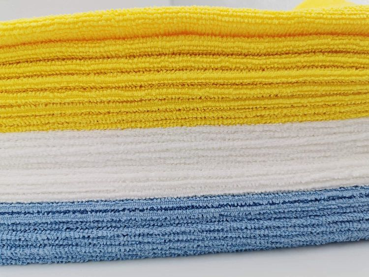 Basics Blue and Yellow Microfiber Cleaning Cloth, 24-Pack