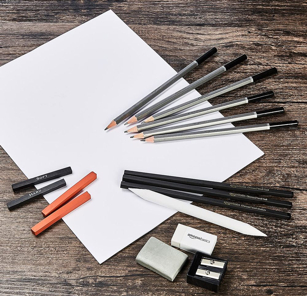 Basics Sketch and Drawing Art Pencil Kit - 17-Piece Set