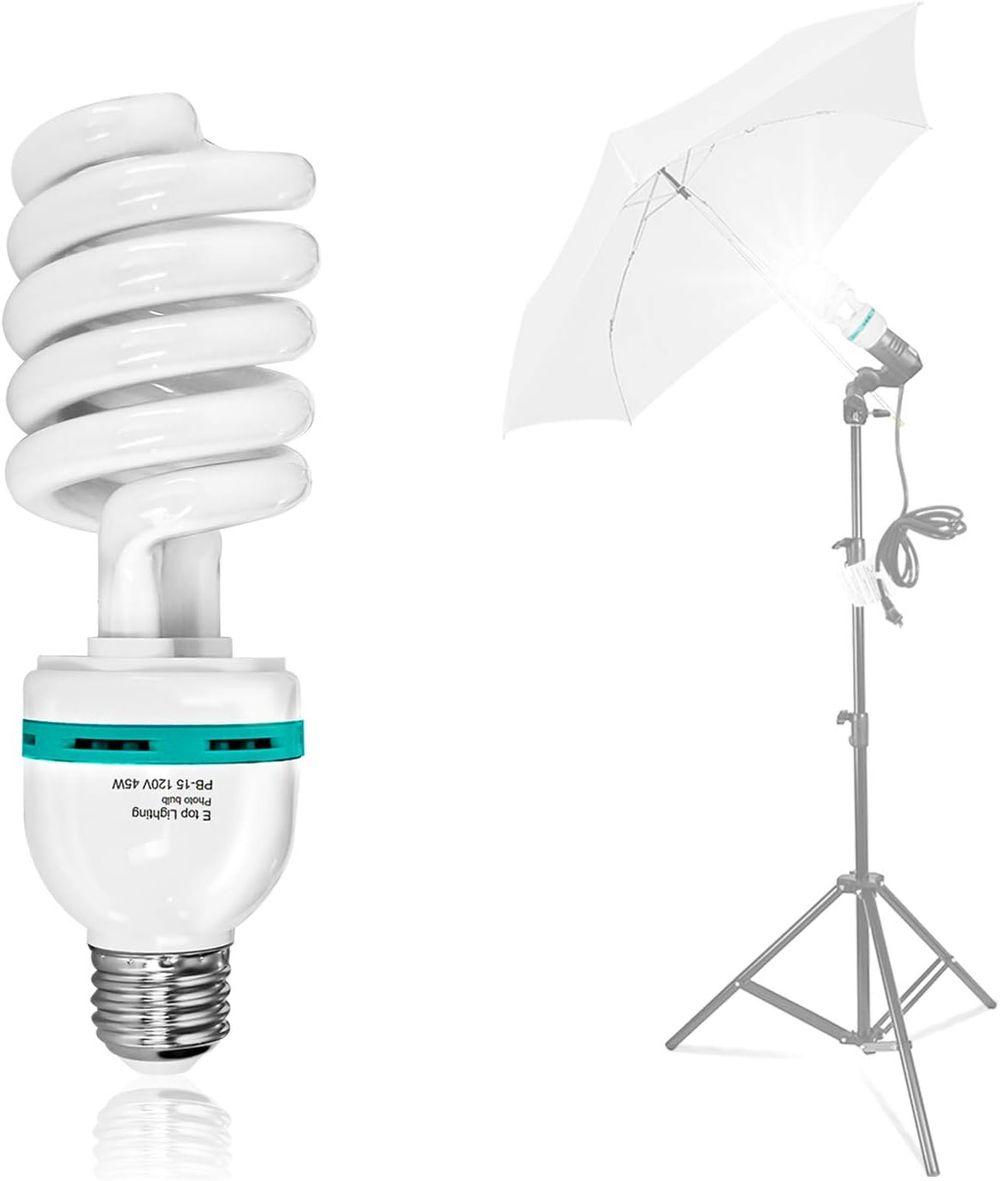 LimoStudio 45 Watt, 6000K Fluorescent Daylight Balanced Light Bulb for Photography and Video Lighting, AGG1758