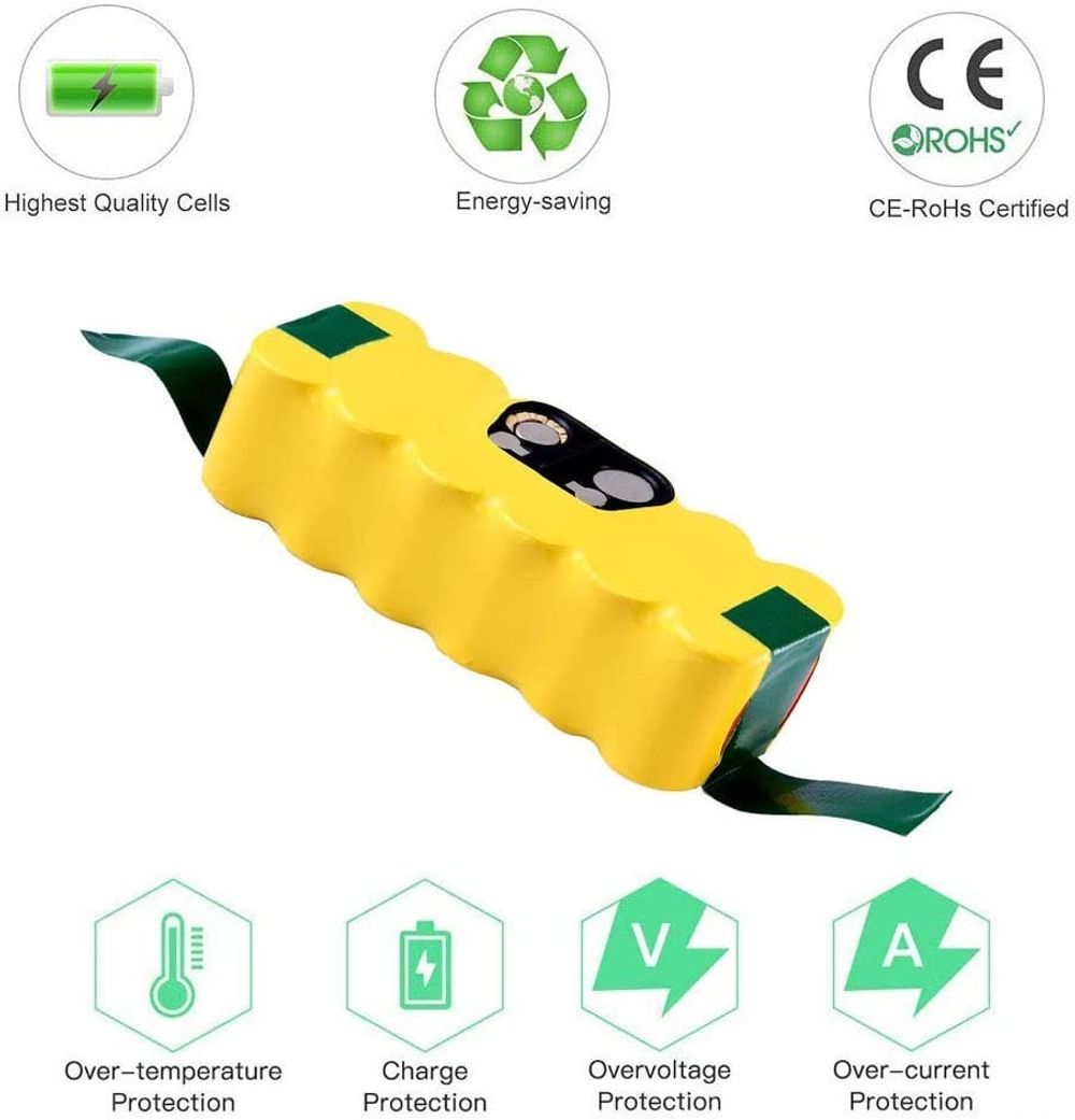 4.5Ah Ni-MH Battery Compatible with iRobot Roomba R3 500 600 800 900 Series Vacuum 530 550 560 620 630 650 800 870