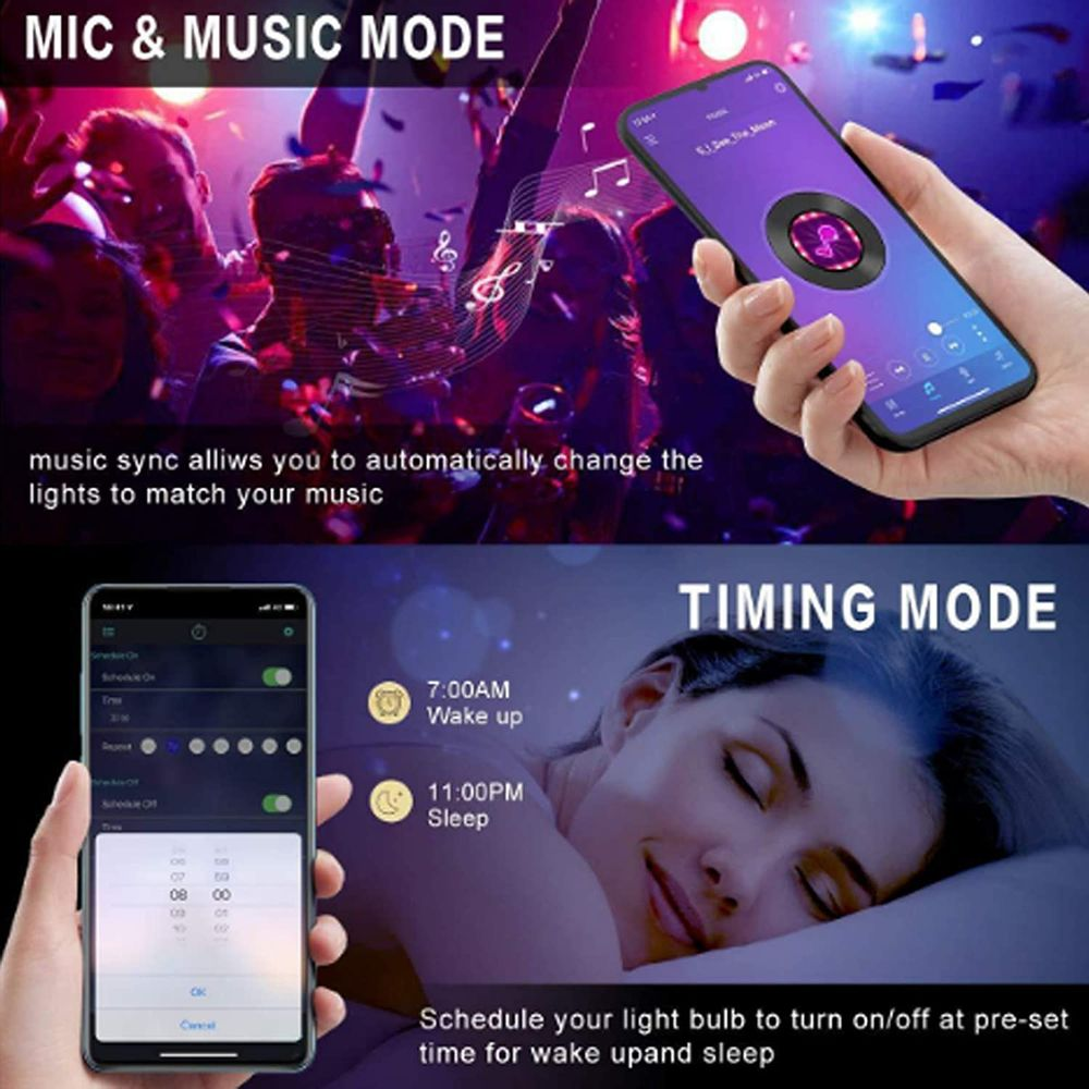 Bluetooth LED Strip Lights Kit 32.8ft Sync to Music, Waterproof, 300 LEDs SMD 5050 RGB Light, IR Remote, Flexible Changing Multi-Color Lighting Strips for TV, Room, Party