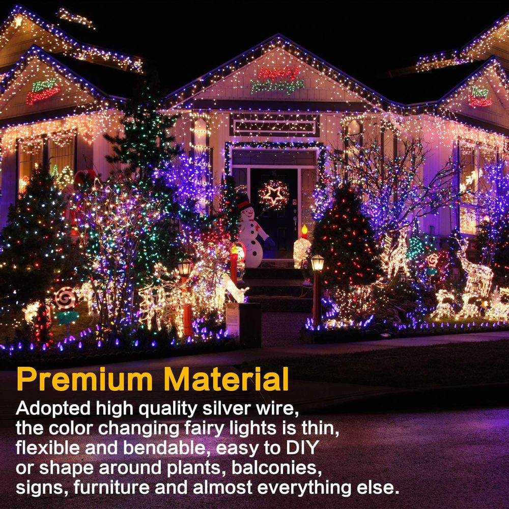 Makion Halloween Decorations,Orange Fairy String Lights 4 Pack,19.7Ft/6M 60 LEDs 2 Modes Indoor Copper Wire Twinkle Lights for Halloween Carnival Themed Party Decorations (Battery Operated)