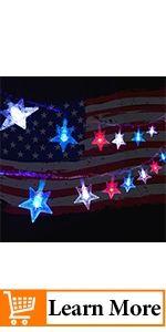 July 4th Star String Lights