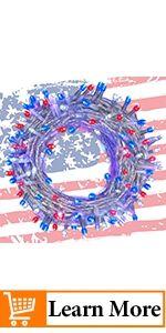 July 4th Patriotic String Lights