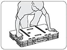 once flat, press down on the keter adjustable folding work table