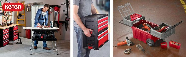 Keter tool storage products chest box work table workbench