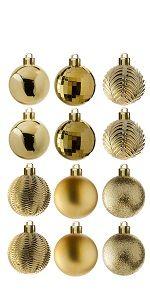 36-Piece Gold Ball Ornaments Set