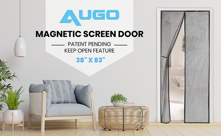 Magnetic Screen Door, Mesh Screen Door, AUGO, Flux, fly screen, bug screen.