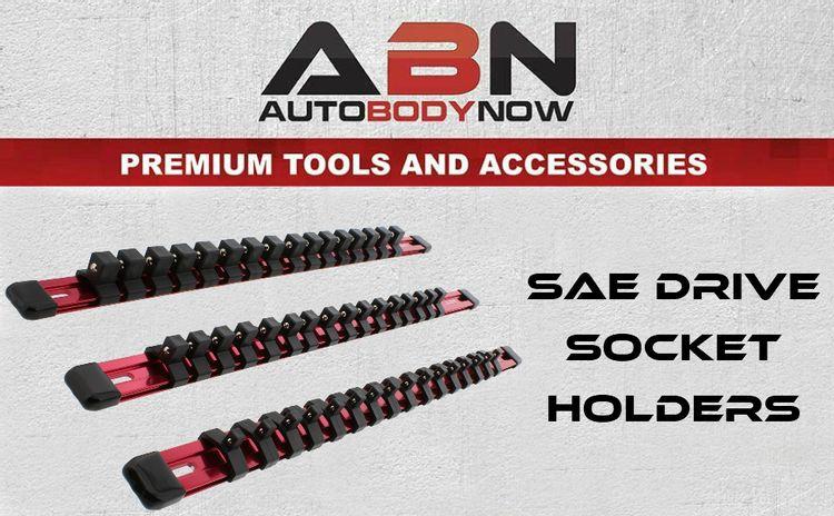 ABN Aluminum Socket Rack Tool Box Socket Organizer with Clips