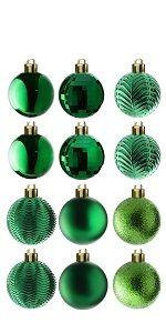 36-Piece Green Ball Ornaments Set