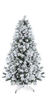 6-Feet Snow Flocked Christmas Tree