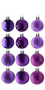 36-Piece Purple Ball Ornaments Set