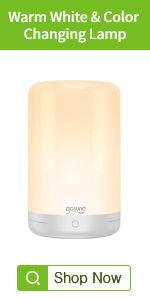 smart warm white and color changing bedside table lamp