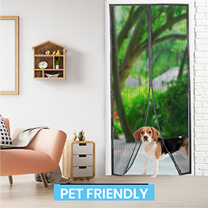 Pet Friendly screen door, magnetic screen door, fly screen