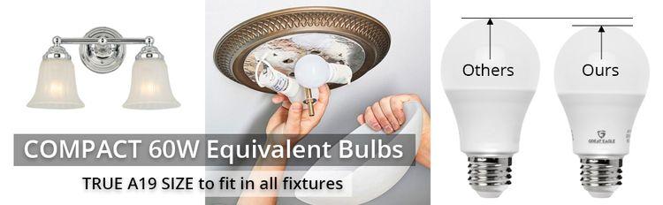 Compact 60W LED Light Bulb
