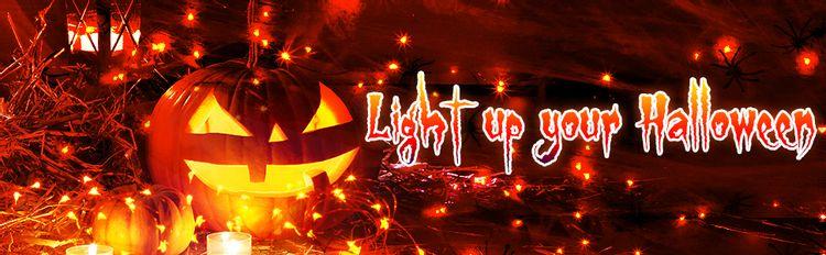 Halloween decorations orange fairy lights