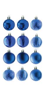 36-Piece Blue Ball Ornaments Set