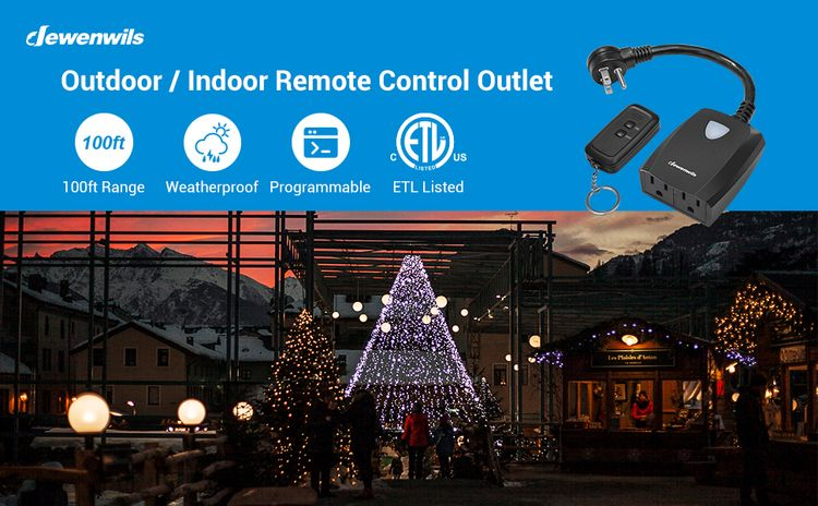outdoor wireless remote control outlet waterproof weatherproof