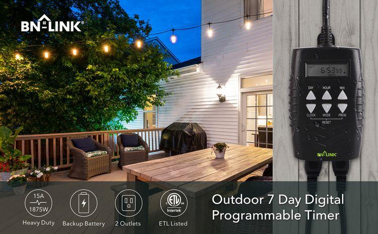 outdoor 7 day digital timer