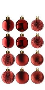 36-Piece Red Ball Ornaments Set