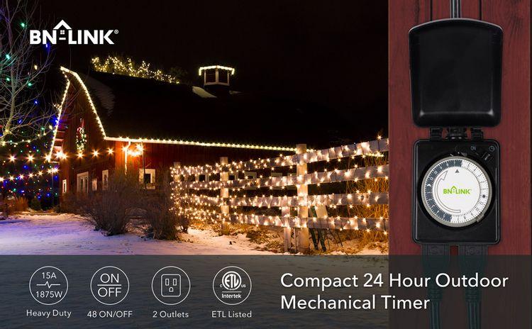 bn-link outdoor mechanical timer outlet