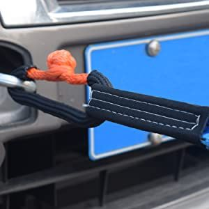 connect recovery strap and vehicle