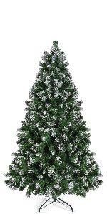 6 feet christmas tree with white snow tips