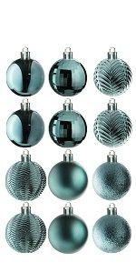 36-Piece Olive Green Ball Ornaments Set