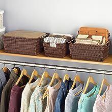 containers, bins, baskets, clothes storage, closet storage, plastic container, hamper, organization