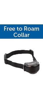 free to roam; petsafe wireless fence; wireless containment; keep dog in yard; battery collar