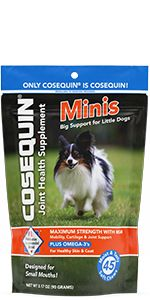 Cosequin Maximum Strength Soft Chews for Joint Support and Skin & Coat Health for Small Dogs