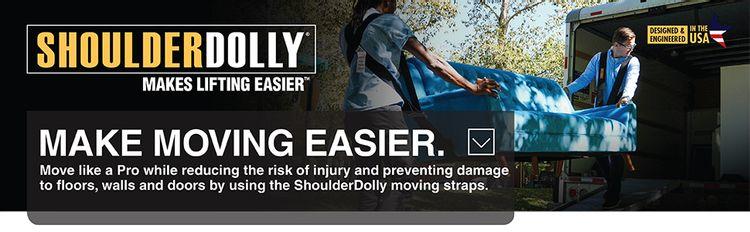 shoulder dolly, moving straps, moving dolly