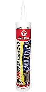 Red Devil 0770 Lifetime Ultra Premium Elastomeric Acrylic Latex Sealant, White