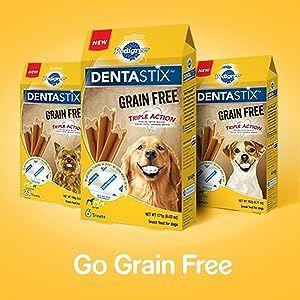Coming Soon; DentaStix Grain Free Treats; Same Teeth Cleaning Action