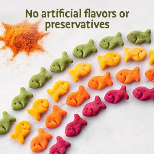 Goldfish crackers made with no artificial flavors or preservatives