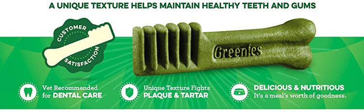 A Unique Texture Helps Maintain Healthy Teeth and Gums, Vet Recommended Dental Care, Dog Treats