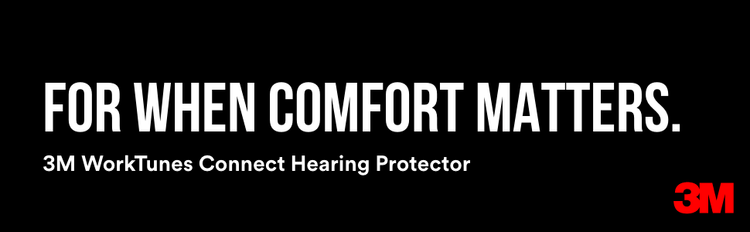 For When Comfort Matters.  3M WorkTunes Connect Hearing Protector