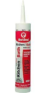 Red Devil 0406 Duraguard Kitchen & Bath Siliconized Acrylic Caulk