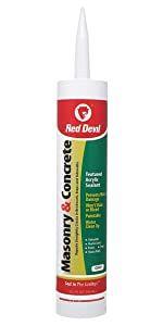Red Devil 0646 Gray 10.1 Oz Cartridge Masonry and Concrete Acrylic Sealant Repair