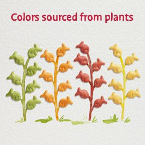 Goldfish cheese cracker colors sourced from real plants