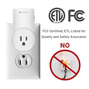 Every Etekcity Remote Outlet is FCC certified and ETL listed.