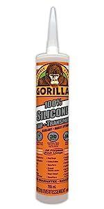 Gorilla 100% Silicone Sealant Clear