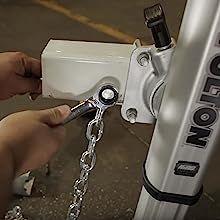 Fulton Fold Away Trailer Tongue Hinge Kit - Safety Chain Installation