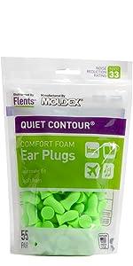 Quiet Contour Ear Plugs foam