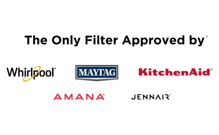 only refrigerator water filter approved by Whirlpool, Maytag, KitchenAid, Amana, JennAir